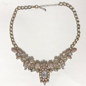 ✨2/$20 🌸 Pink Stone Statement Necklace